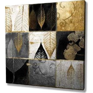 Obraz na plátně Golden Leaves, 45x45cm