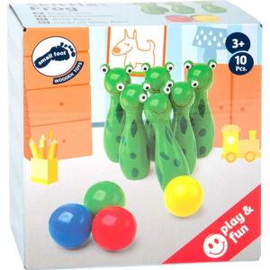 Dětské dřevěné kuželky Legler Frog