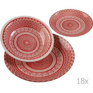 Set 18 keramického nádobí Versa Vajilla Roja