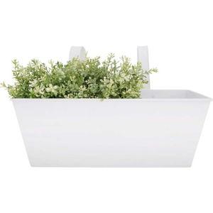 Bílý zinkový závěsný truhlík Esschert Design