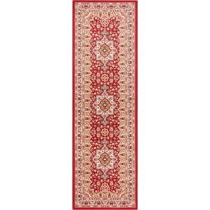 Červený koberec Nouristan Parun Tabriz, 80 x 250 cm