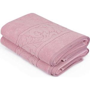 Sada 2 růžových ručníků z bavlny Sultania, 70 x 140 cm