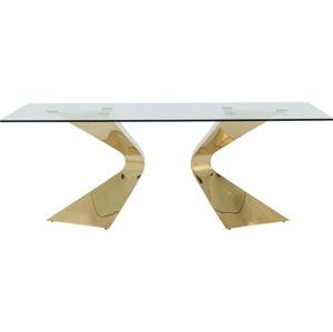 Jídelní stůl s nohami ve zlaté barvě Kare Design Gloria