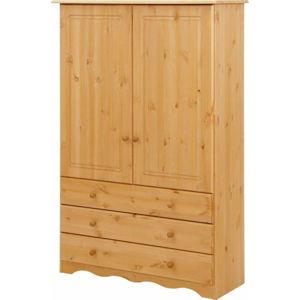 Šatní skříň z masivního borovicového dřeva Støraa Amanda