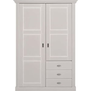 Bílá dřevěná šatní skříň se 2 dvířky Artemob Khate
