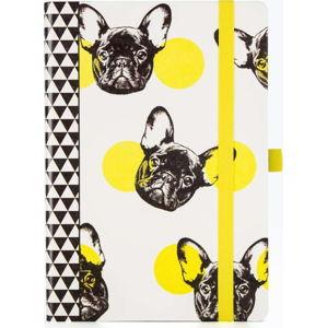 Zápisník s motivem psů Just Mustard Dog, 190stránek