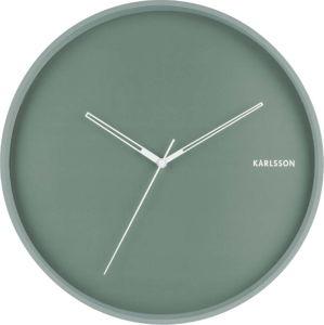 Mátově zelené nástěnné hodiny Karlsson Hue, ø 40cm