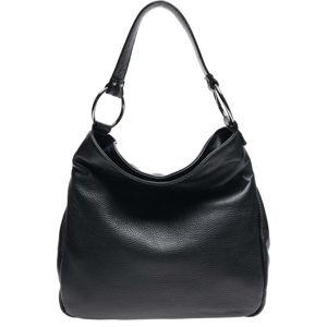 Černá kožená kabelka Renata Corsi