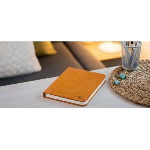 Oranžová velká LED stolní lampa ve tvaru knihy Gingko Booklight