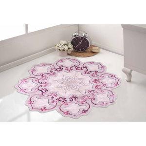 Růžový koberec Vitaus Camina Feo, ⌀ 80 cm