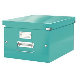 Tyrkysově modrá úložná krabice Leitz Universal, délka 37 cm
