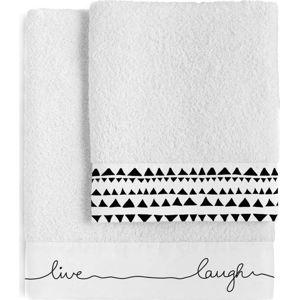 Sada 2 bavlněných ručníků Blanc Live
