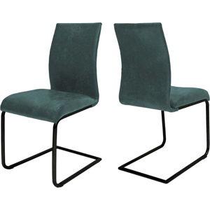 Petrolejově modrá jídelní židle Canett Clipper
