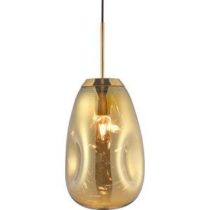 Závěsné svítidlo z foukaného skla ve zlaté barvě Leitmotiv Pendulum, výška 33cm