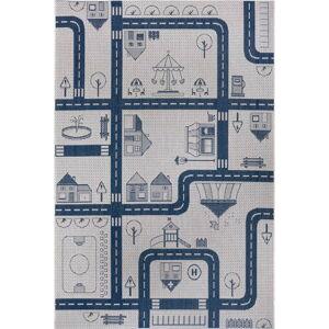 Modrý dětský koberec Ragami City, 80 x 150 cm