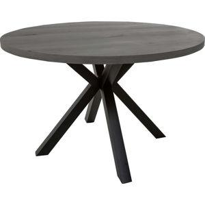 Šedý kulatý jídelní stůl s černýma nohama Canett Maison, ø 120 cm