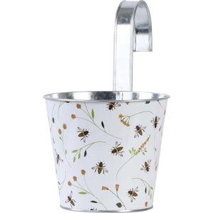 Závěsný květináč s potiskem Esschert Design Bee, 1,85 l