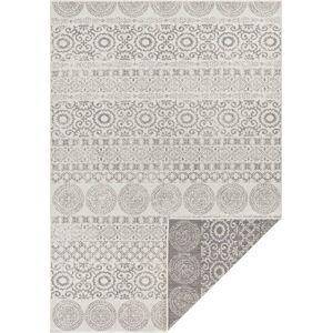 Šedo-bílý venkovní koberec Ragami Circle, 80 x 150