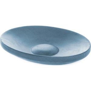 Modrá oválná betonová mýdlenka Iris Hantverk