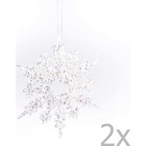 Sada 2 závěsných vánočních dekorací ve tvaru vločky Dakls Elisabeth