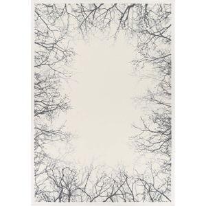 Bílý oboustranný koberec Narma Pulse White, 100 x 160 cm