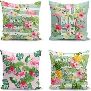 Sada 4 povlaků na polštáře Minimalist Cushion Covers Naturia, 45 x 45 cm