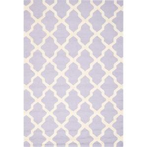 Vlněný koberec Safavieh Ava Light Purple, 274 x 182 cm