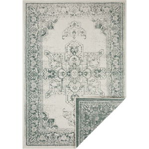 Zeleno-krémový venkovní koberec Bougari Borbon, 160 x 230 cm