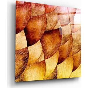 Skleněný obraz Insigne Golden Shells,40 x40cm