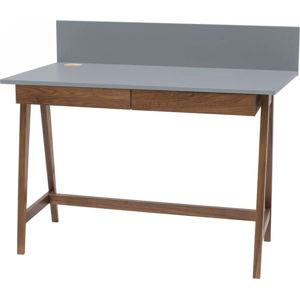 Šedý psací stůl s podnožím z jasanového dřeva Ragaba Luka Oak,délka 85cm