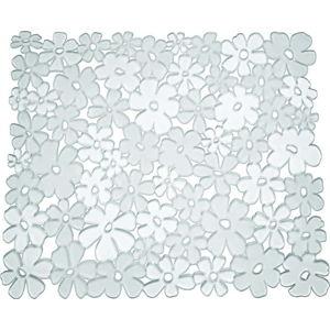 Průhledná podložka do dřezu iDesign Blumz, 28x30,5cm