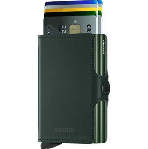 Zelená kožená peněženka s pouzdrem na karty Secrid Twin