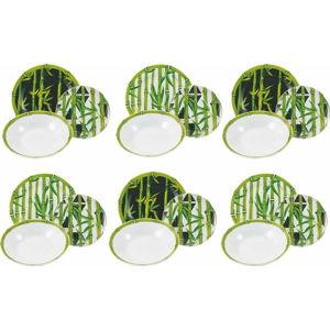 18dílná sada nádobí z porcelánu Villad'Este Bamboo