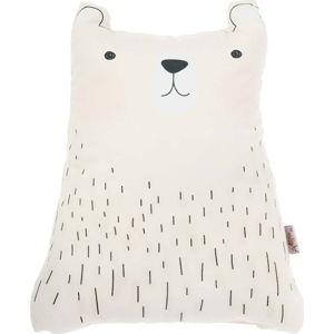 Světle hnědý dětský polštářek s příměsí bavlny Apolena Pillow Toy Bear Cute, 22 x 30 cm