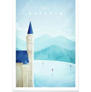Plakát Travelposter Bavaria, A3