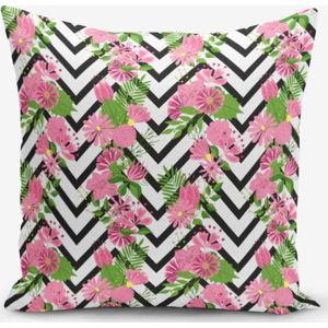 Povlak na polštář s příměsí bavlny Minimalist Cushion Covers Zigzag Zebra Ogea Malea, 45 x 45 cm
