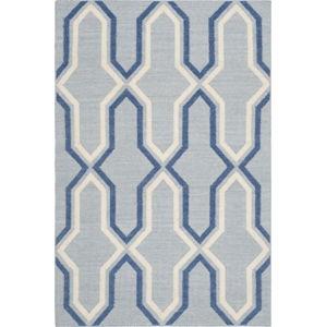 Modrý vlněný koberec Safavieh Aklim, 243 x 152 cm