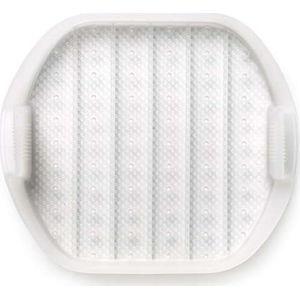 Bílý silikonový multifunkční tác na pečení pro 1 - 2 porce Lékué