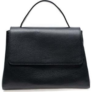 Černá kožená taška do ruky Renata Corsi