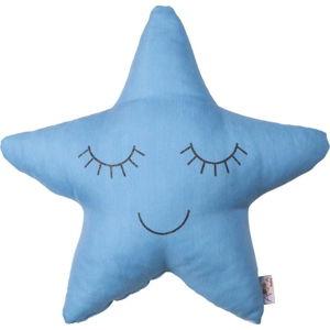 Modrý dětský polštářek s příměsí bavlny Apolena Pillow Toy Star, 35 x 35 cm