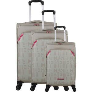 Sada 3 béžových zavazadel na 4 kolečkách Lulucastagnette Bellatrice