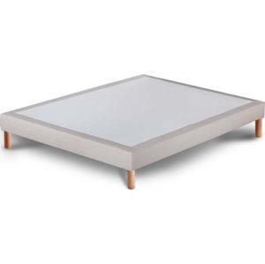 Světle šedá postel typu boxspring Stella Cadente Maison, 140x200cm