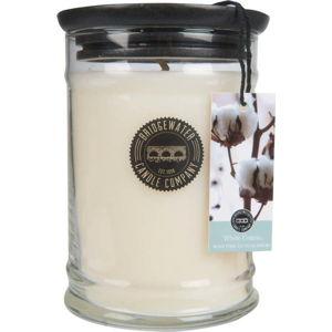 Velká svíčka ve skle Bridgewater candle Company Sweet White Cotton, doba hoření 140-160hodin