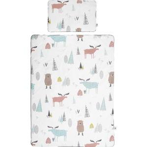Set dětské bavlněné přikrývky s polštářem BELLAMY In the Wood, 100x135cm