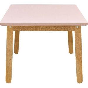 Světle růžový dětský stůl BELLAMY Woody