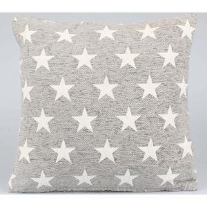 Světle šedý povlak na polštář Dakls Stars, 40x40cm