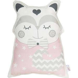 Růžový dětský polštářek s příměsí bavlny Apolena Pillow Toy Smart Cat, 23 x 33 cm