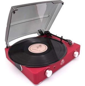 Červený gramofon GPO Stylo II Red