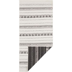 Černo-krémový venkovní koberec Bougari Bahamas, 80 x 350 cm