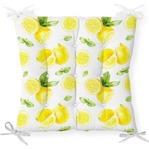 Podsedák s příměsí bavlny Minimalist Cushion Covers Sliced Lemon, 40 x 40 cm